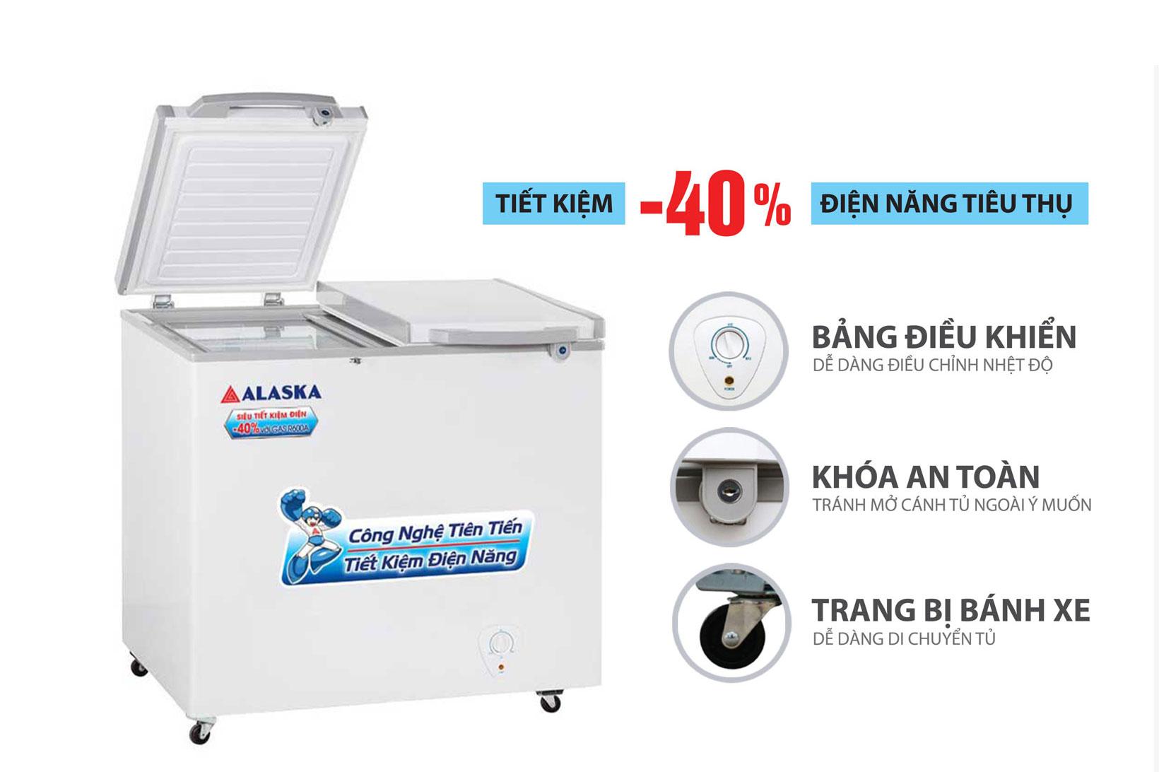 Tủ đông mát Alaska FCA-2600N