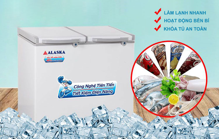 Tủ đông mát Alaska FCA-4600N