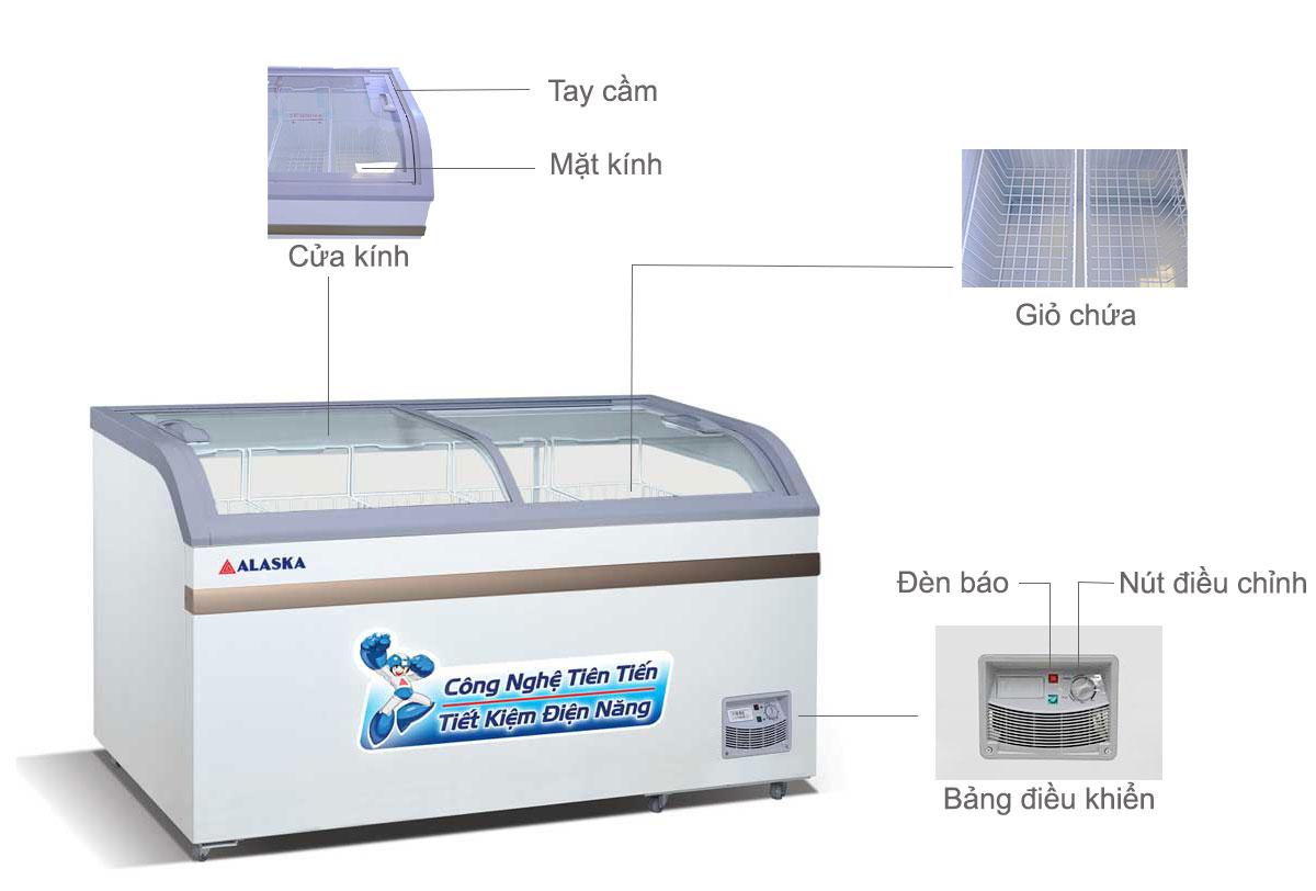 tủ đông kính cong Alaska SD-601B