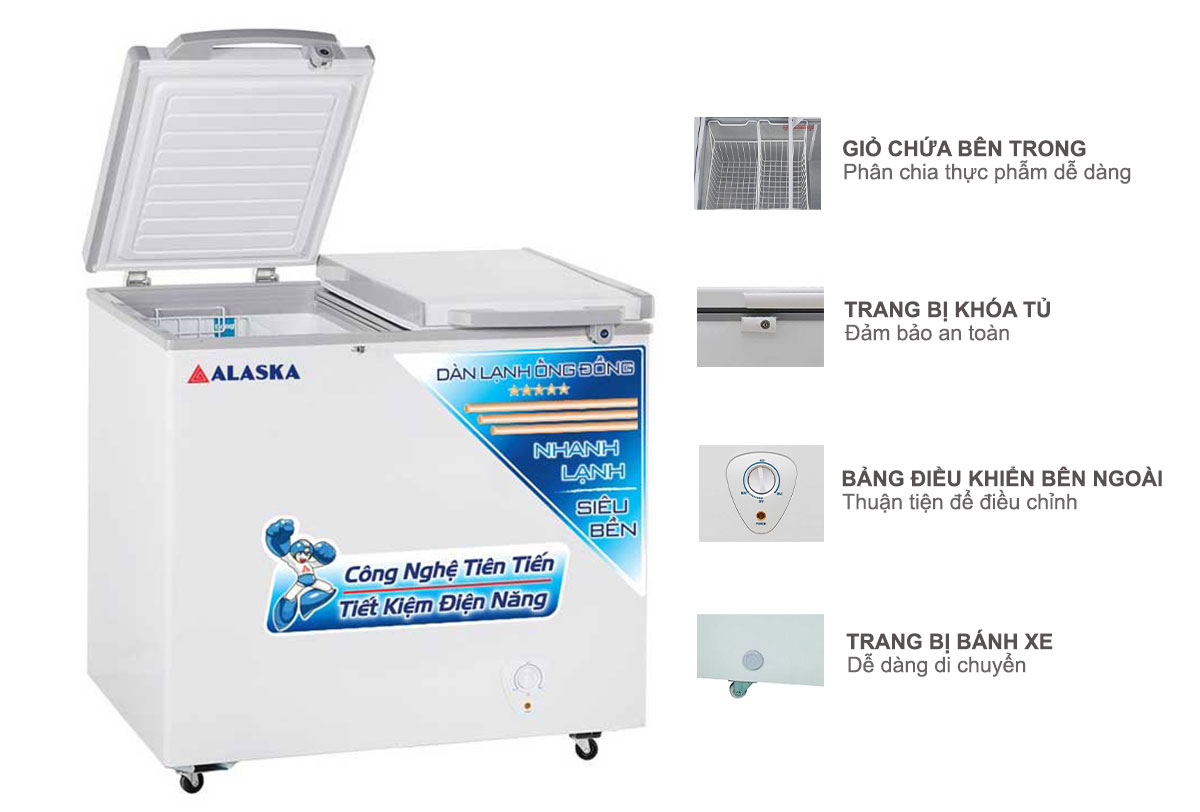 Tủ đông mát Alaska FCA-2600C