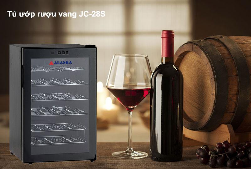 Tủ ướp rượu vang Alaska JC-28S