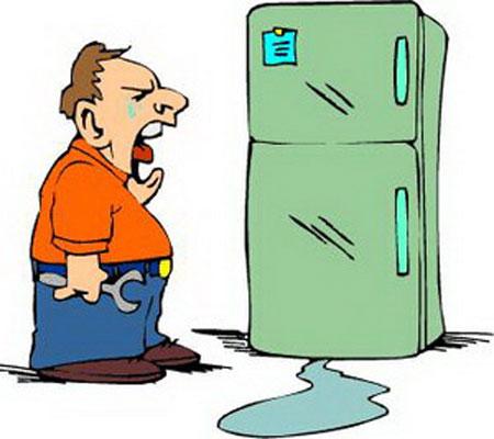 tủ mát alaska bị chảy nước trong ngăn mát