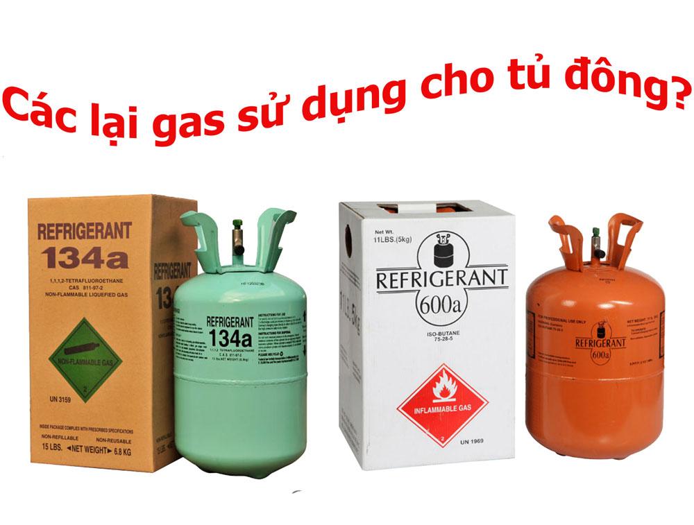 Các loại gas sử dụng cho tủ đông