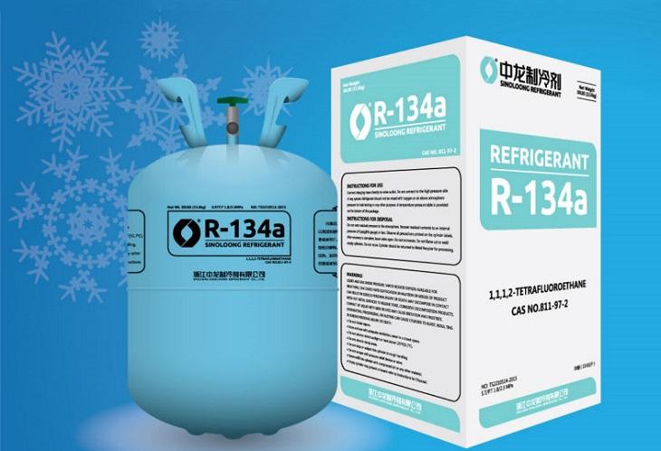 gas sử dụng cho tủ đông r134a