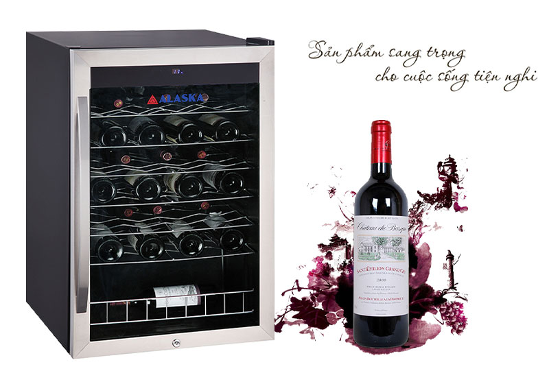 Tủ ướp rượu vang Alaska JC-48