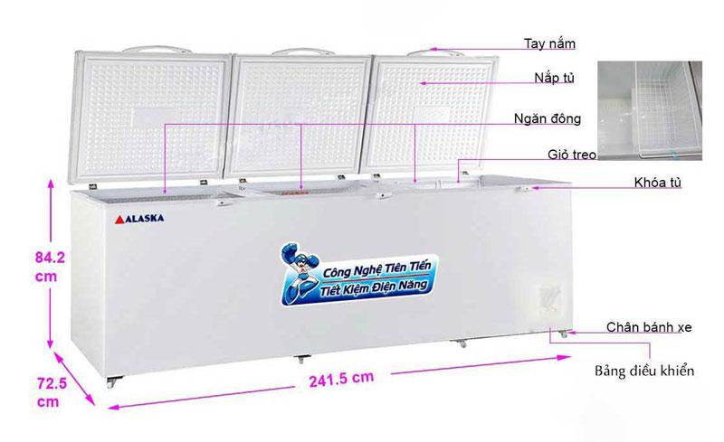 Tủ đông Alaska HB-1100