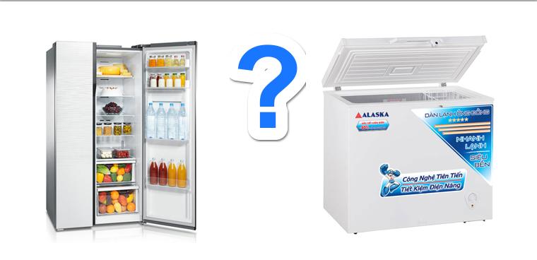 Nên mua tủ đông hay mua tủ lạnh