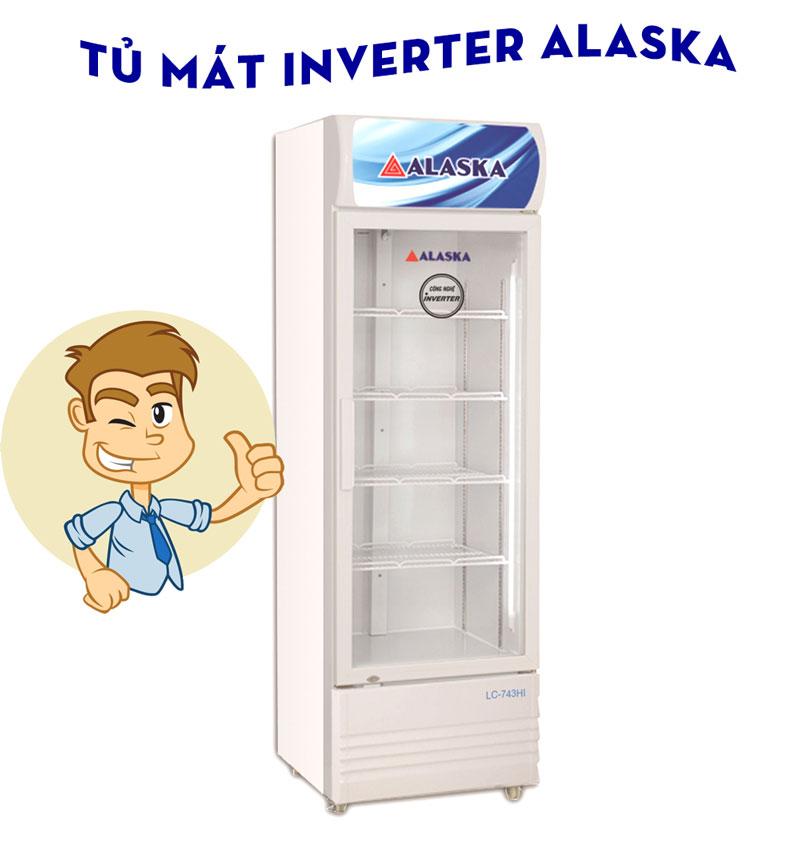 tủ mát inverter alaska