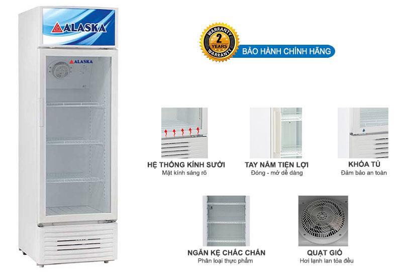 Tủ mát Alaska LC-455H dung tích 300 lít