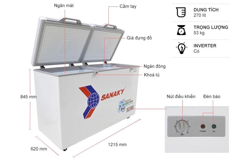 Tủ đông Sanaky Inverter VH-3699A4K